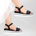 Sandale Dama cu Platforma WT10 Black Mei