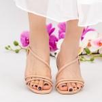 Sandale Dama cu Toc gros YBS77 Pink Mei