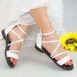 Sandale Dama QZL229 White Mei