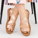 Sandale Dama cu Platforma WS103 Champagne Mei