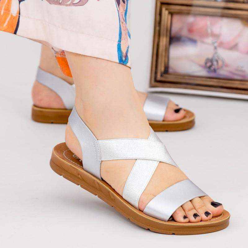 Sandale Dama cu Platforma WS103 Silver Mei