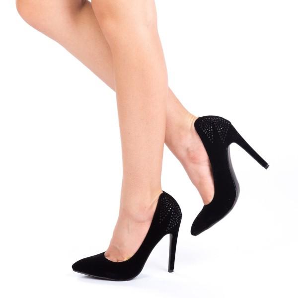 Pantofi cu Toc HLX19 Black Mei