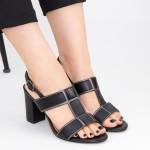 Sandale Dama cu Toc gros CS85 Black Mei