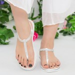 Sandale Dama WS125 White Mei