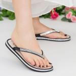 Papuci Dama WS126 Black-Silver Mei