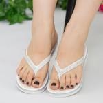 Papuci Dama WS126 White Mei