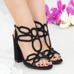 Sandale cu Toc XKK158 Black Mei