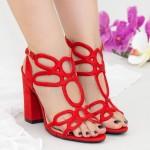 Sandale cu Toc XKK158 Red Mei