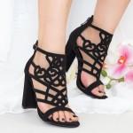 Sandale cu Toc XKK233 Black Mei