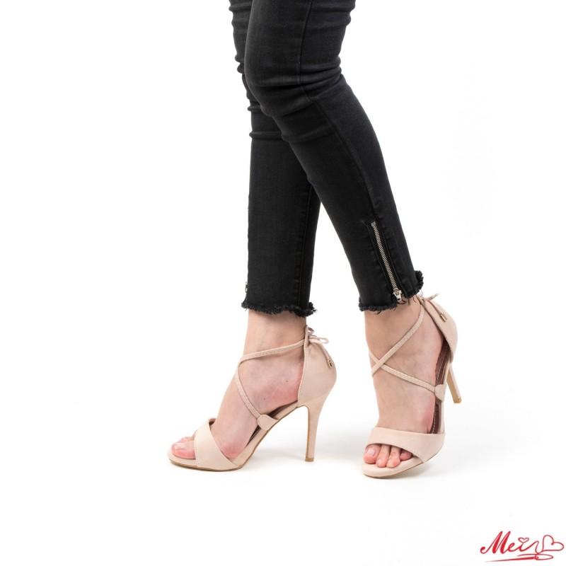 Sandale Dama cu Toc HLX26 Beige Mei