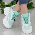 Pantofi Sport Dama cu Platforma SJN332 White-Blue Mei