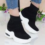 Pantofi Sport cu Platforma Dama QQ2 Black Mei
