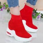 Pantofi Sport cu Platforma Dama QQ2 Red Mei