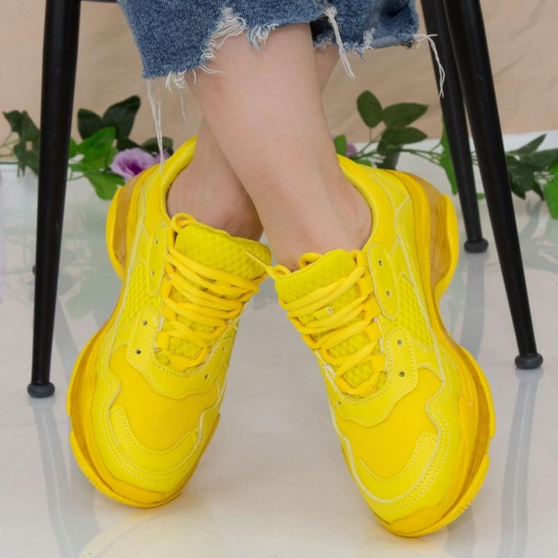 Pantofi Sport Dama YKQ193 Yellow Mei