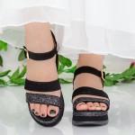Sandale Dama cu Platforma LM256 Black Mei