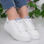 Pantofi Sport Dama YKQ190 White-Grey Mei