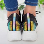 Pantofi Sport Dama cu Platforma NX101 Black Mei