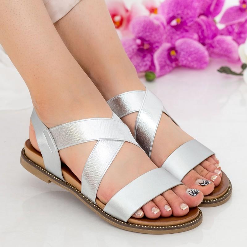 Sandale Dama ZX5 Silver Mei