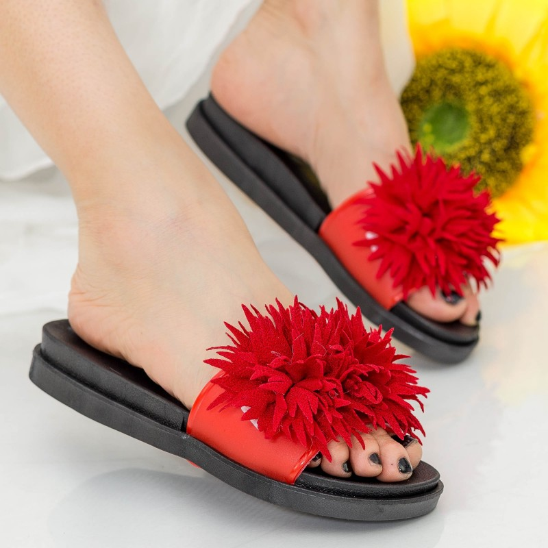 Papuci Dama YH6685 Red Sport Fashion