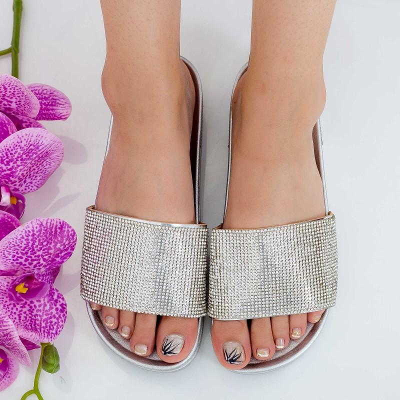 Papuci Dama WS118 Silver Mei