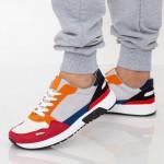 Pantofi Sport Barbati D769 White-Red Se7en