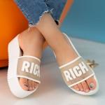 Papuci Dama cu Platforma CB1911-2 White Fashion