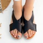 Sandale Dama cu Platforma QZL252 Black Mei