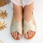 Sandale Dama cu Platforma QZL252 Gold Mei