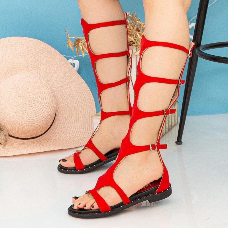 Sandale Dama Gladiator QZL250X Red Mei
