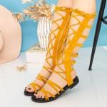 Sandale Dama Gladiator QZL253X Yellow Mei