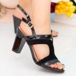 Sandale Dama cu Toc gros WT83 Black Mei