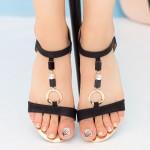 Sandale Dama LM147 Black Mei