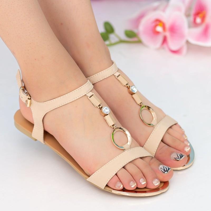 Sandale Dama LM147 Beige Mei