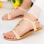 Sandale Dama OLS7 Beige Mei