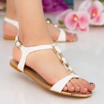 Sandale Dama OLS7 White Mei