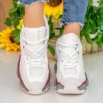 Pantofi Sport Dama cu Platforma CJL12 White Mei