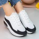 Pantofi Sport Dama LGLJE1 White-Black Mei
