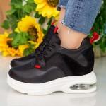 Pantofi Sport cu Platforma Dama QQ22 Black Mei