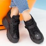 Pantofi Sport Dama cu Platforma SJN265 Black Mei