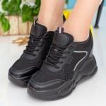 Pantofi Sport Dama cu Platforma SJN282 Black Mei