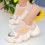 Pantofi Sport Dama cu Platforma SZ253 Beige Mei
