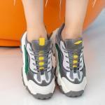 Pantofi Sport Dama cu Platforma WLXMN1 Grey Mei