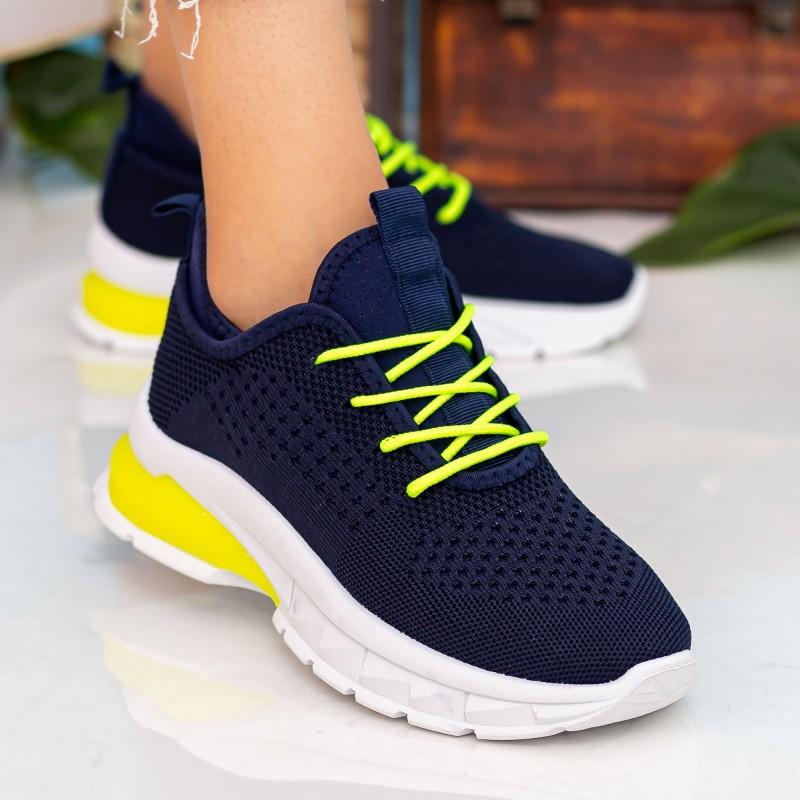 Pantofi Sport Dama 23-56 Dark Blue-Flyellow Se7en