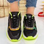 Pantofi Sport Dama cu Platforma 23-52 Black Se7en