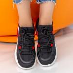 Pantofi Sport Dama cu Platforma X2905 Black Se7en