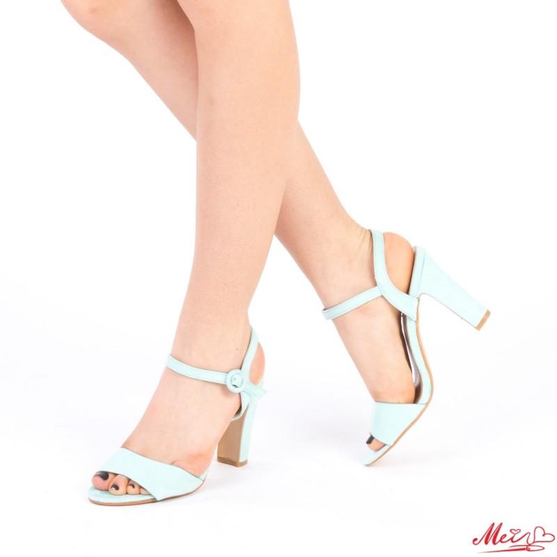 Sandale Dama cu Toc HX2B Light Blue Mei