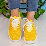 Pantofi Sport Dama cu Platforma 19-6 Yellow Mei