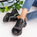 Pantofi Sport Dama cu Platforma 608 Black Mei
