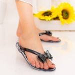 Papuci Dama 588-005 Black Mei