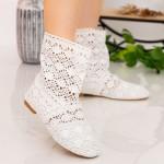 Cizme Scurte Dama W2 White Fashion